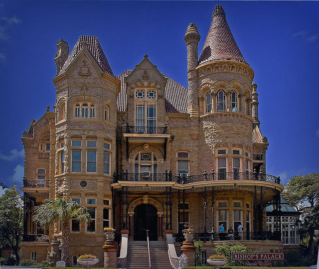 11) Bishop's Palace: another castle in Galveston, it was built in the late 1880s by architect Nicholas J. Clayton for lawyer and politician Walter Gresham and his family. It was then sold to the Roman Catholic Diocese of Galveston in 1923 and became known as the Bishop's Palace. It's open for daily tours, and can also be used for special occasions.