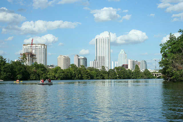 7) Enjoy paddleboarding, kayaking, and canoeing at the popular Lady Bird Lake in the heart of Austin.