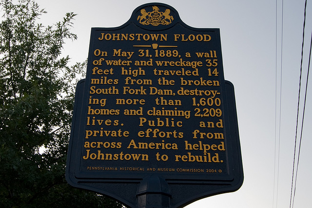 1. Johnstown Flood, May 31, 1889