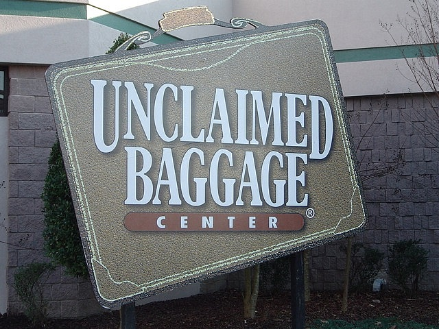 13.) If you've ever lost your luggage while flying, chances are it ended up here at Unclaimed Baggage Center in Scottsboro.