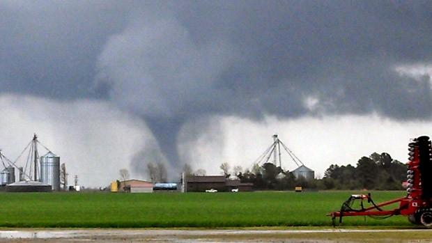 10. Here is an amazing image captured by meteorologist Jim Merrell of an EF-2 tornado that struck Beaufort in 2014.