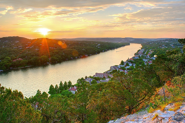 5) Hike up Mount Bonnell in Austin as the sun goes down and lock lips with that special someone. There's a reason why this is one of the top make-out spots in Austin - I mean, just look at that view!