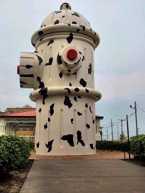 1) Giant Dalmatian Fire Hydrant