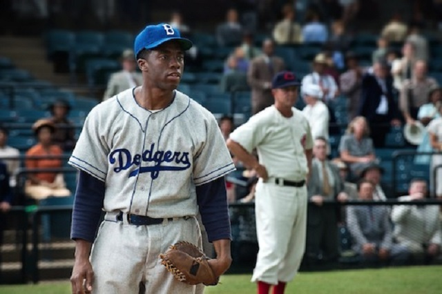 1.) 42 - Released in 2013, and starring Chadwick Boseman as MLB legend Jackie Robinson, this movie had scenes filmed in the Birmingham area at Rickwood Field.