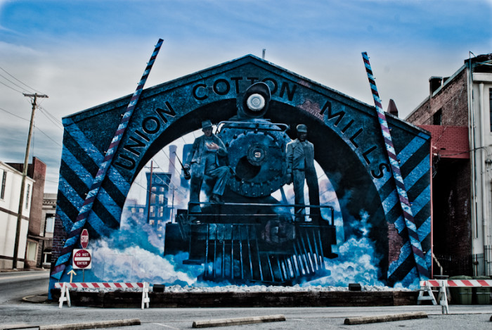 7. Union Cotton Mills mural