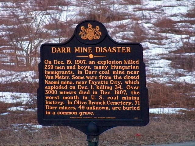 5. Darr Mine Disaster, December 19, 1907