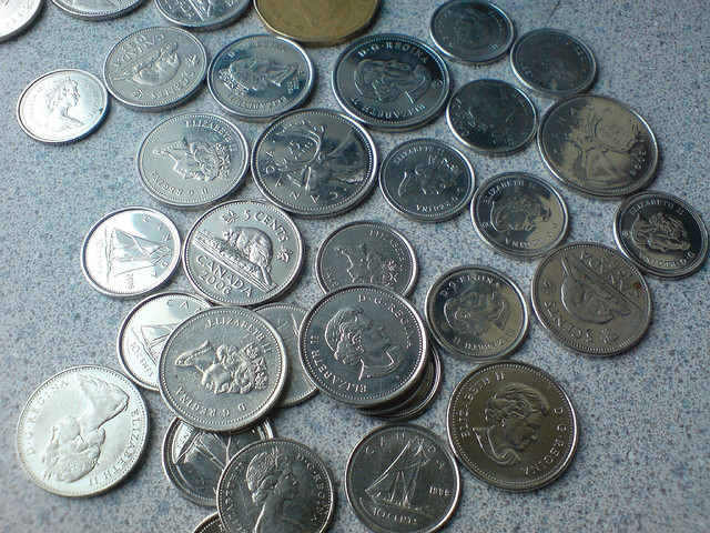 Your Change is Probably Mixed with Canadian Coins.