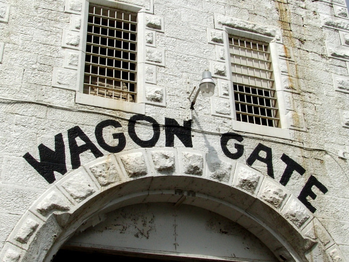 3) The first section that was built was the North Wagon Gate, which is made with hand-cut sandstone.