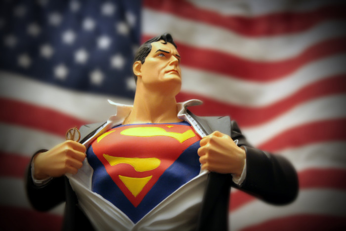 12) Superman: Because he reminds that we still need heroes today.