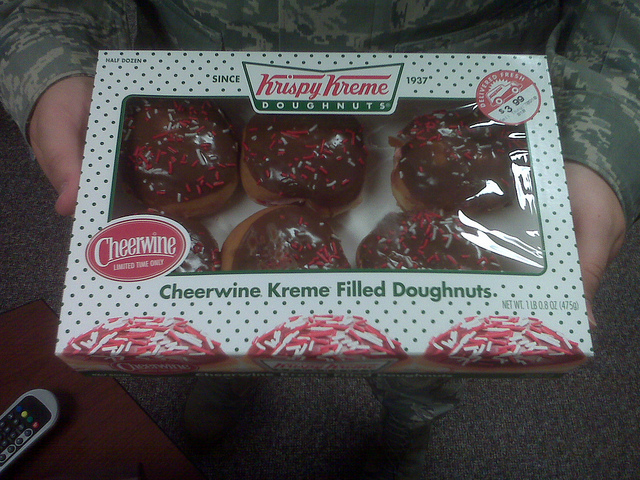 14. Krispy Kreme meets Cheerwine meets Doughnut equals heaven.