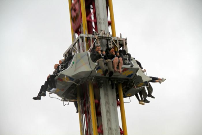 13.  Free Fall Amusement Ride