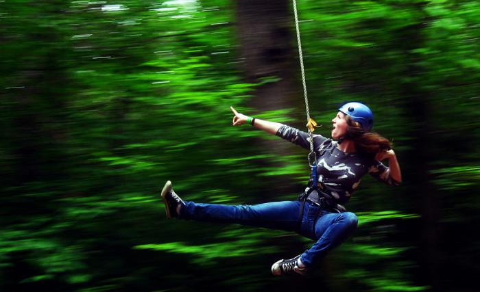 1. Zip, Zip, Ziplining