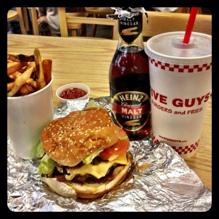 9. Five Guys Burgers and Fries.