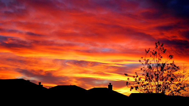 5) A bright and colorful sunset over Lubbock. Beauty like this just can't be photoshopped.