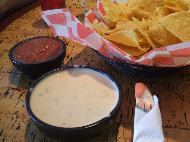 9) Chips, queso, and salsa. Tex-Mex is a pretty big deal here, especially on 99 cent margarita nights.