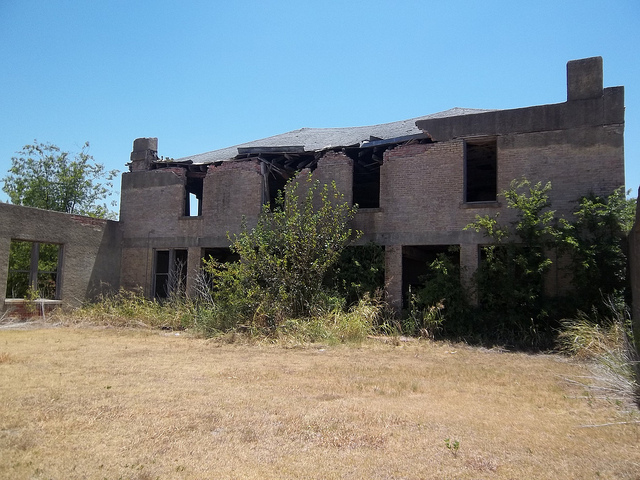2) Mosheim School: the crumbling ruins of a school once teeming with children sits in the small town of Mosheim near Waco.