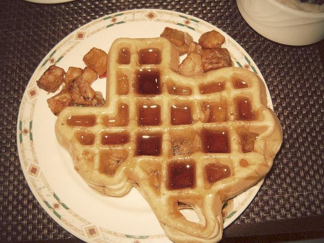 2) Texas-shaped waffles
