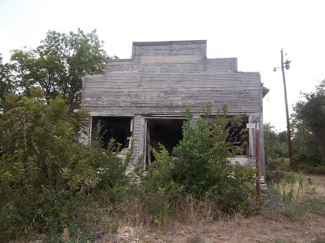 5) Abandoned store in Duffau, Texas.
