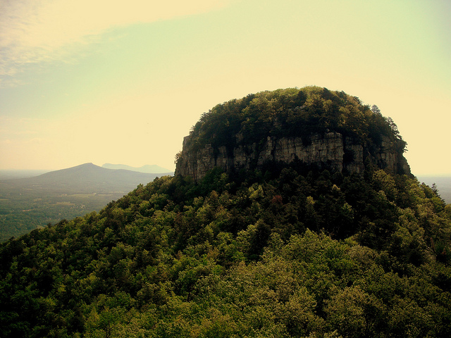 10. Drive to the summit of Pilot Mountain to catch the sunset and snag that first kiss!