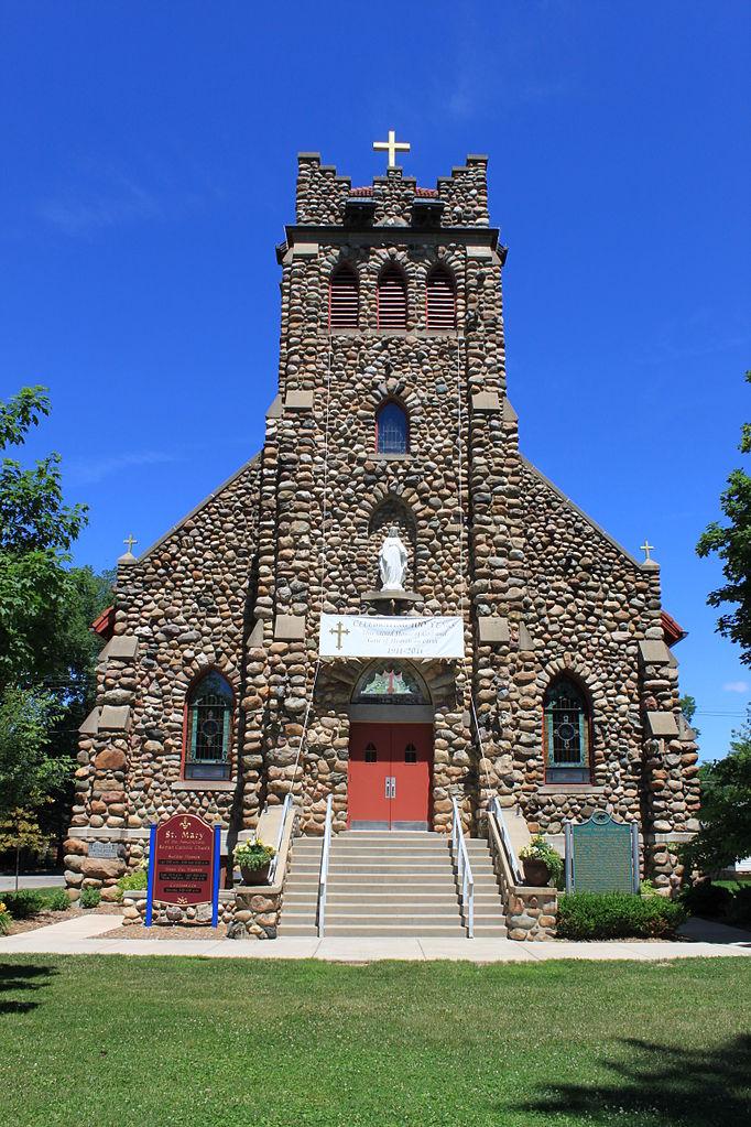 Attractive Churches In Jackson Mi #1: 682px-Saint_Mary_Catholic_Church_Manchester_Michigan.jpg