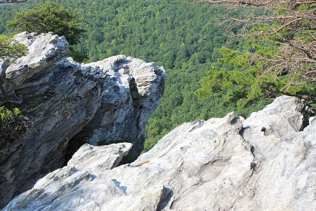 15. A little thrill and a little love at Hanging Rock State Park.