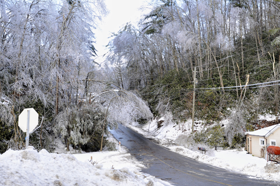 """9. And in 2009 the """"Christmas Ice Storm"""" ravaged Watauga County."""