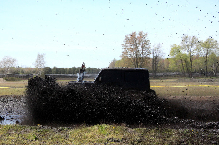 8. Mud boggin' isn't what we all do on Saturdays.