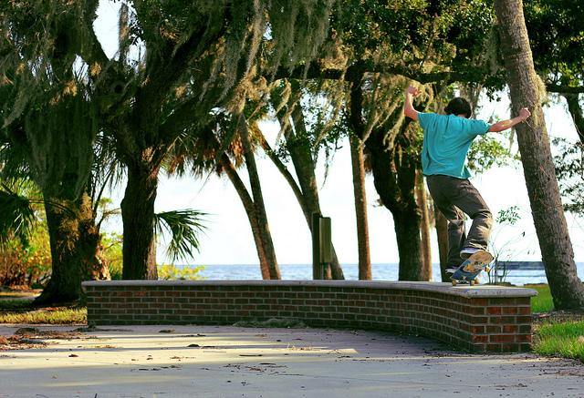 15. Or skateboarding.