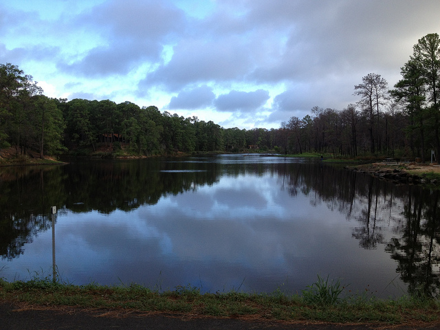 14) Lake Bastrop, known for wonderful bass fishing, canoeing, and water skiing.