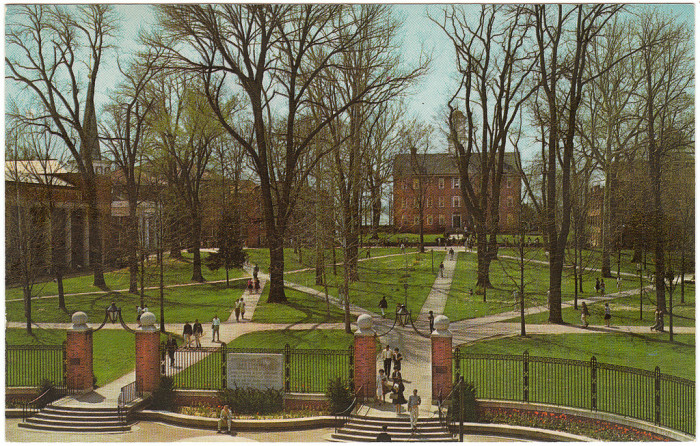 9) Circa 1970: (Athens) Ohio University, College Green