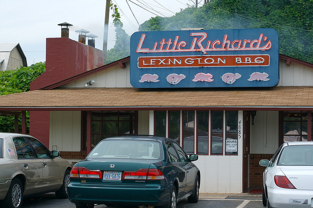 2. Dine beneath original and vintage Tobacco advertisements at Little Richards BBQ in Winston-Salem.
