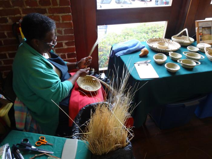 13. Sweet Grass Basket Making