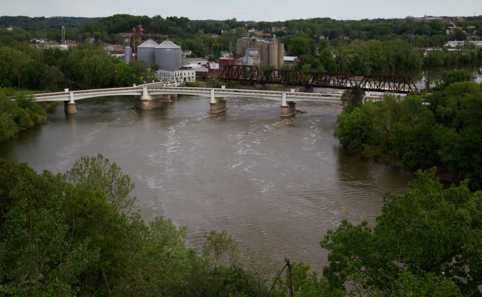 10) The Y Bridge in Zanesville is the only bridge in the world that you can cross and still be on the same side of the river.