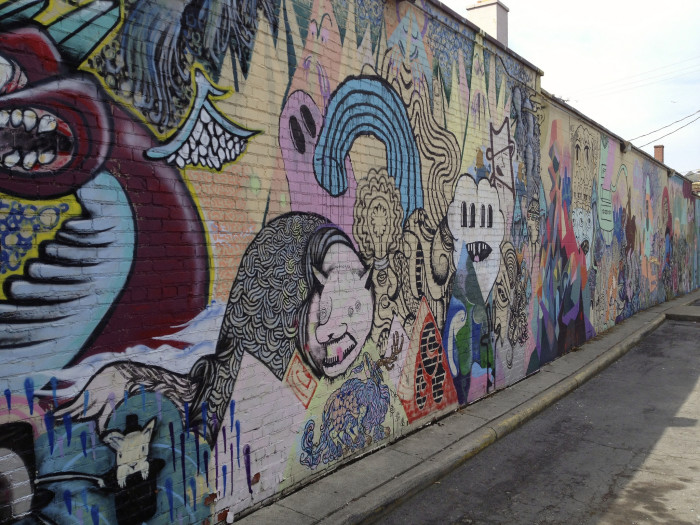 11)  Tour the state's largest collection of outdoor murals and street art at the Short North Arts District in Columbus.