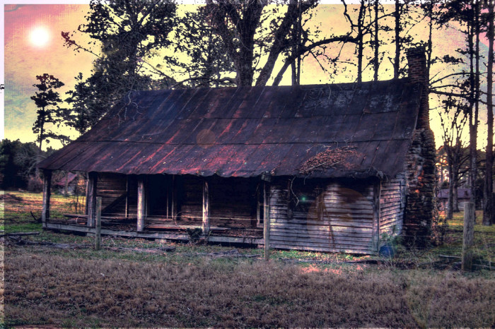 Abandoned Cabin right before sunset
