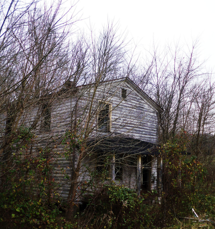 1. This old farmhouse must have once been full of life. With clothes still hanging in the closet, you have to wonder why everyone left in such a hurry.