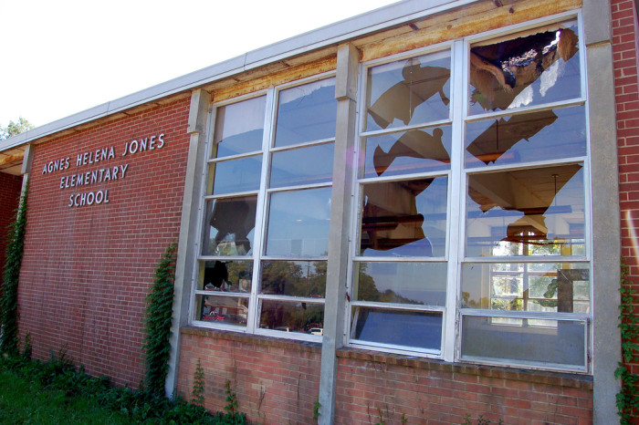 6. Agnes Helena Jones Elementary School in Stony Creek has more than enough to fuel the imagination. Built in 1965 to solve for overcrowding in Sussex County, the school doesn't leave much information behind - for example, why are there beds in an elementary school?
