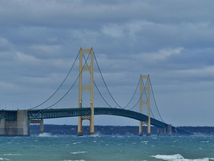 ...But rather as something you can drive across in Mackinaw City.
