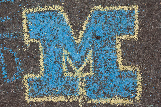 10) When they have a habit of correcting you that it's blue and MAIZE, not blue and YELLOW.