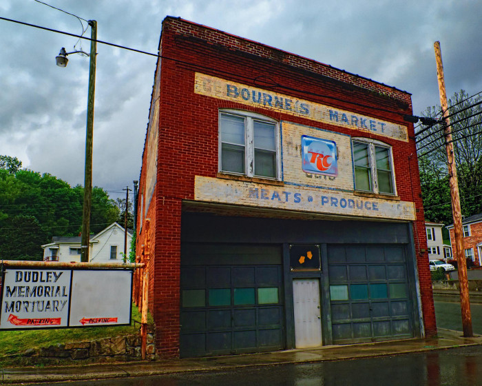 2. Bourne's Market in Bluefield has seen better days. Of course, I can't imagine the mortuary next door was particularly good for business.