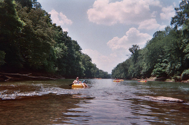 4.  Tube down the Chattahoochee River during the hot summers.
