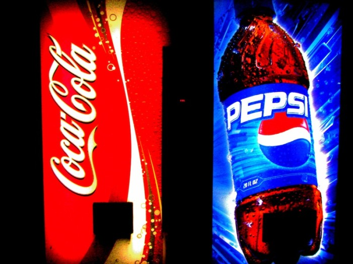 2. We will order a Coke when standing in front of a Pepsi fountain.