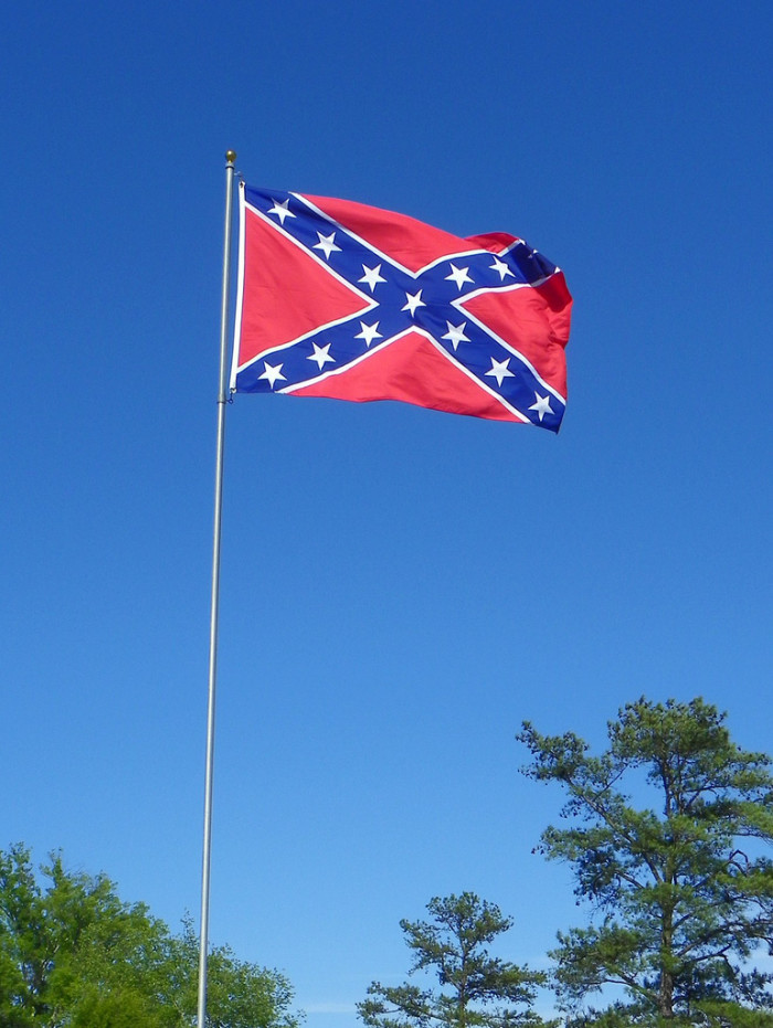 22) You best not blink an eye at the Confederate flag