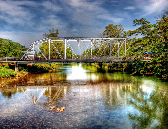 13. The bridge between Copperhill, TN and McCayesville, GA