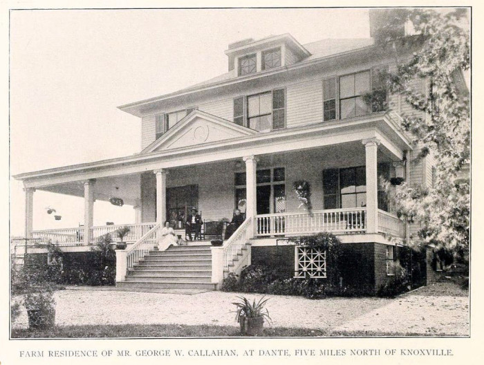 13) 1904 was a good year for the grandeur of George W. Callahan's home, located just north of Knoxville.