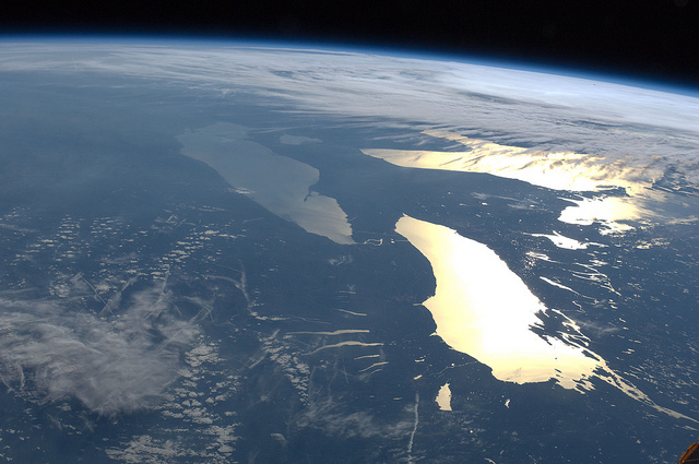 And of course, a bonus shot of the Great Lakes in the Sunlight