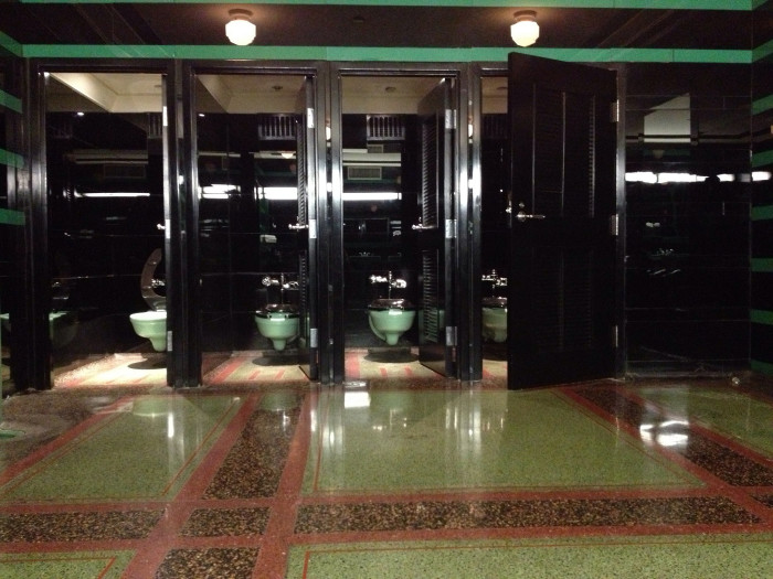 "13) Did you know that the Hermitage Hotel in Nashville has been awarded, ""Restroom of the Year"" for its men's restroom?  Because it most definitely has. Beautifully decorated with glass tiles and green accents, even women can come in and take a look."
