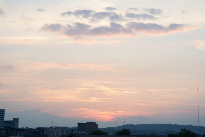 12) Knoxville may be a pretty city in itself, but with that sunset? It's drop dead gorgeous.