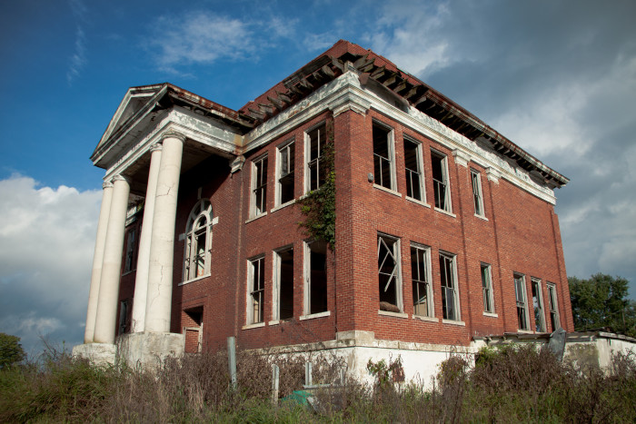 12. Liberty Hall School in Lodi sits vacant after closing in 1981. This once magestic school, dating from the early 1800s, became a local farmer's tobacco, hay and pig barn. Now empty, it still carries signs of its former elegance, which only seems to make its current condition that much sadder.