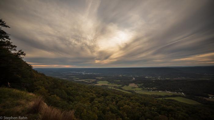 A beautiful sunset at Lookout Mountain.